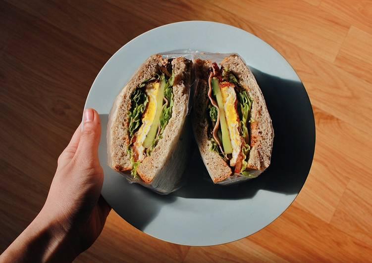 Bữa Sáng Eat Clean Với Sandwich Cuộn