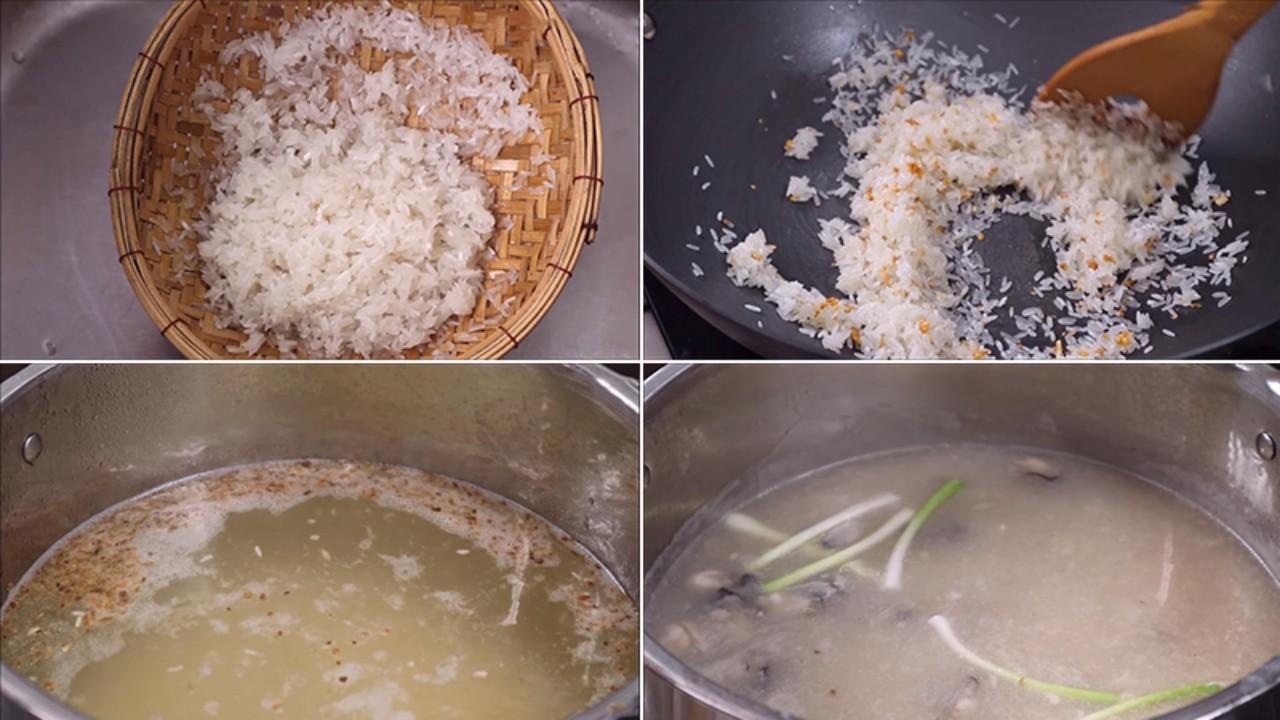 Rang Gạo Và Nấu Cháo