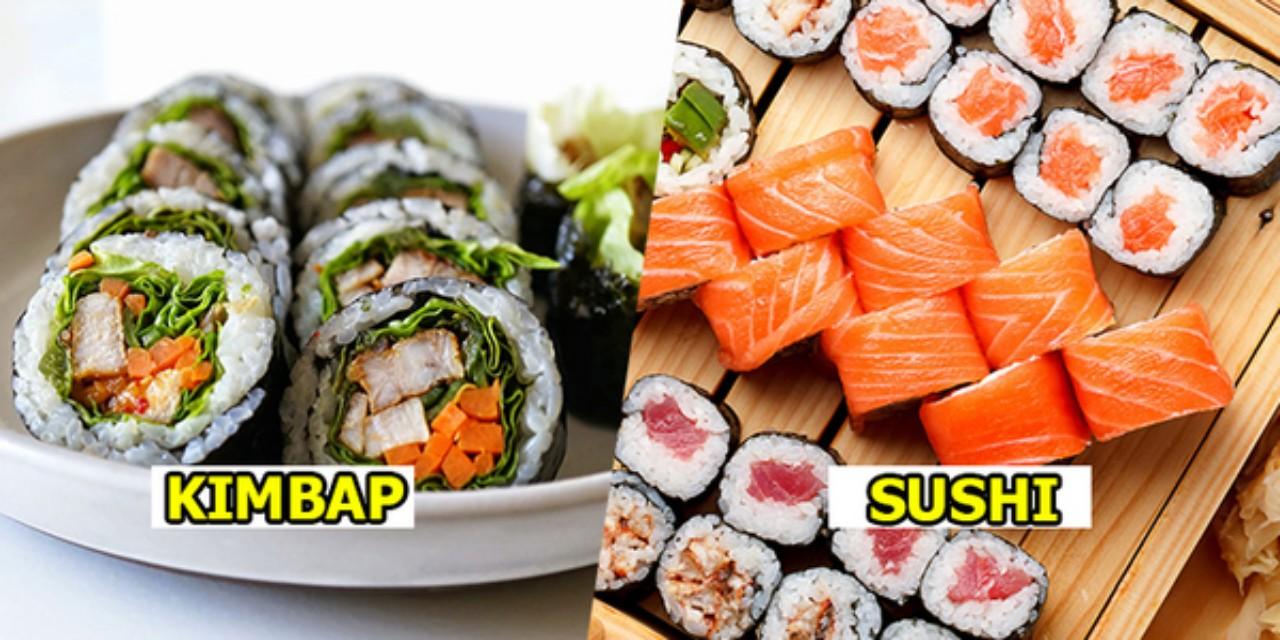 Sự Khác Biệt Giữa Kimbap Và Sushi