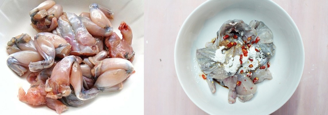 Sơ Chế Và ướp Thịt ếch